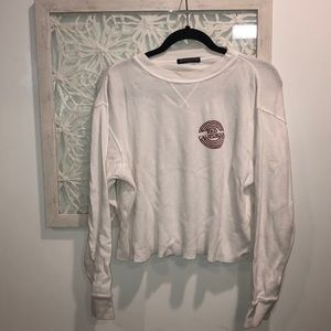 Brandy Melville Red California Thermal Long Sleeve